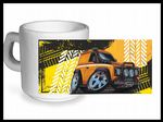 Koolart TYRE TRAX 4x4 Design For Yellow Land Rover Defender - Ceramic Tea Or Coffee Mug